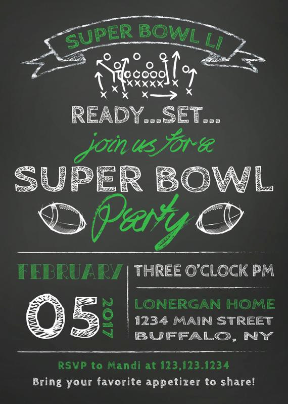 Super Bowl Invitation Ideas Best Of Sale Super Bowl Party Invitation