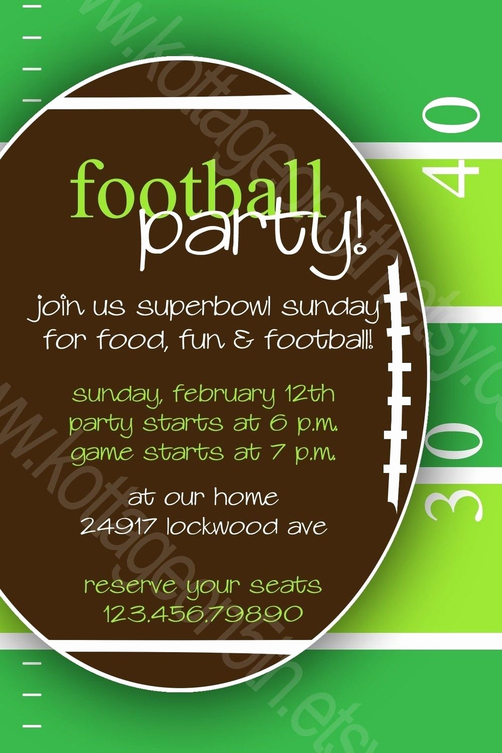 Super Bowl Invitation Ideas Elegant Monday Night or Superbowl Sunday Football Fan Party