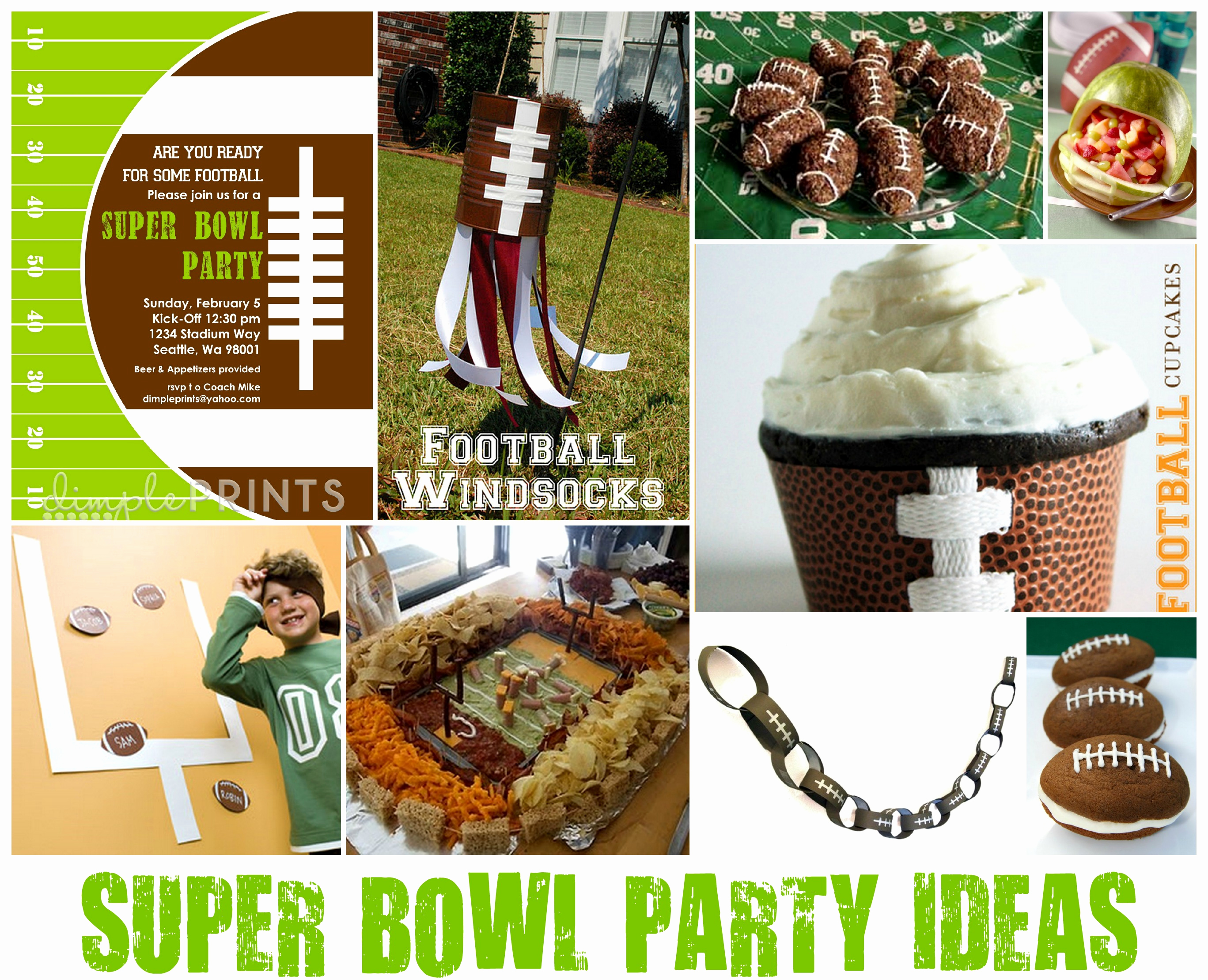 Super Bowl Invitation Ideas Elegant Super Bowl Party Ideas Dimple Prints