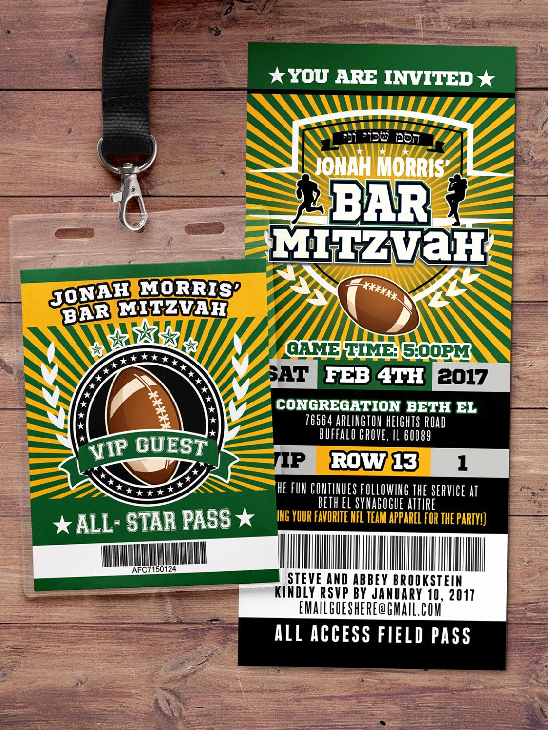 Super Bowl Invitation Ideas Fresh Football Ticket Invitation All Star Birthday Vip
