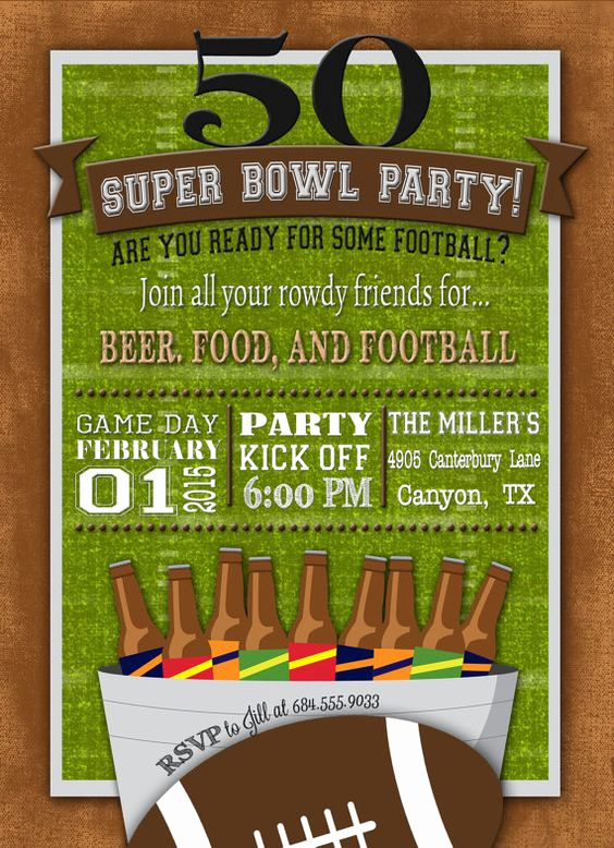 Super Bowl Invitation Ideas Lovely 50 Party Football and Invitations On Pinterest