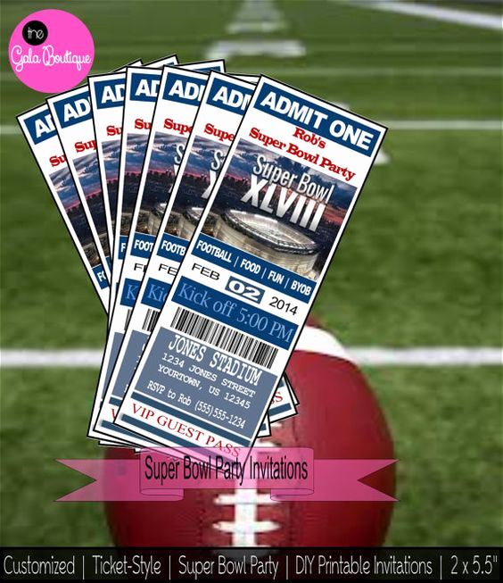 Super Bowl Invitation Ideas Luxury Super Bowl Party Invitations Digital Diy