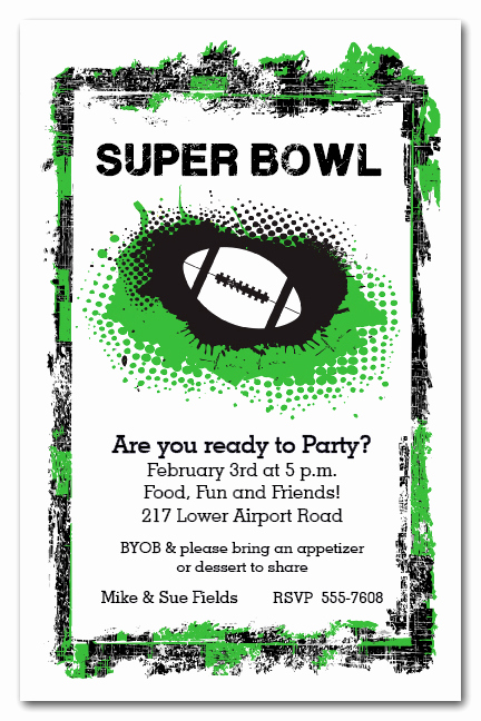 Super Bowl Invitation Ideas New Grunge Football Super Bowl Party Invitations