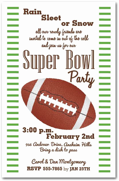 Super Bowl Invitation Ideas New Stripes and Football Super Bowl Invitations