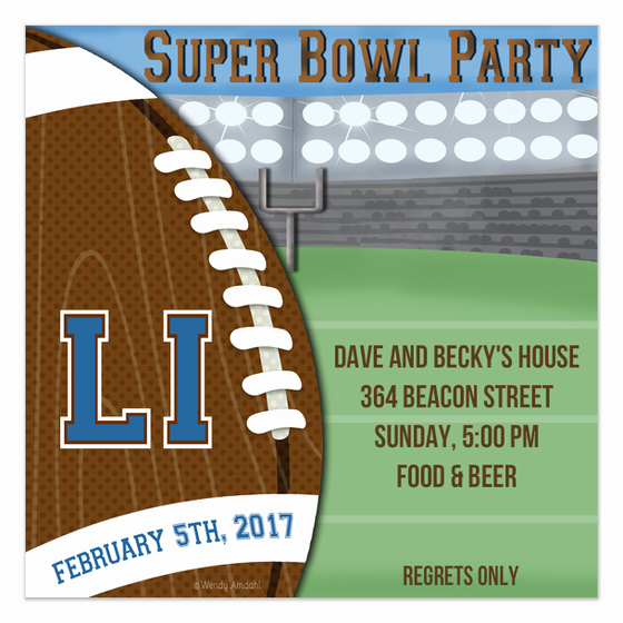 Super Bowl Invitation Template Beautiful Super Bowl Field Invitation Invitations & Cards On Pingg