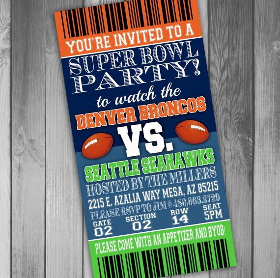 Super Bowl Invitation Template Best Of Super Bowl Party Invitation Ticket Invitation Football