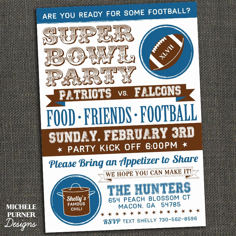 Super Bowl Invitation Template Elegant Super Bowl Party Invitation Fall Activities