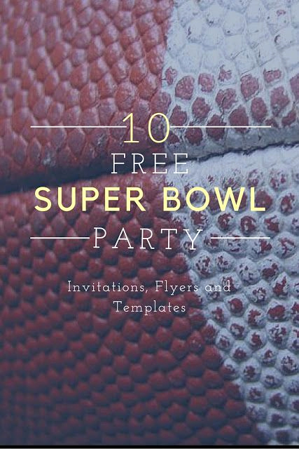 Super Bowl Invitation Template Fresh 10 Free Superbowl Party Invitations & Printable Flyer