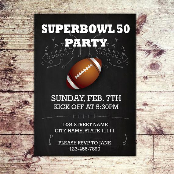 Super Bowl Invitation Template Inspirational Items Similar to 2016 Football Paty