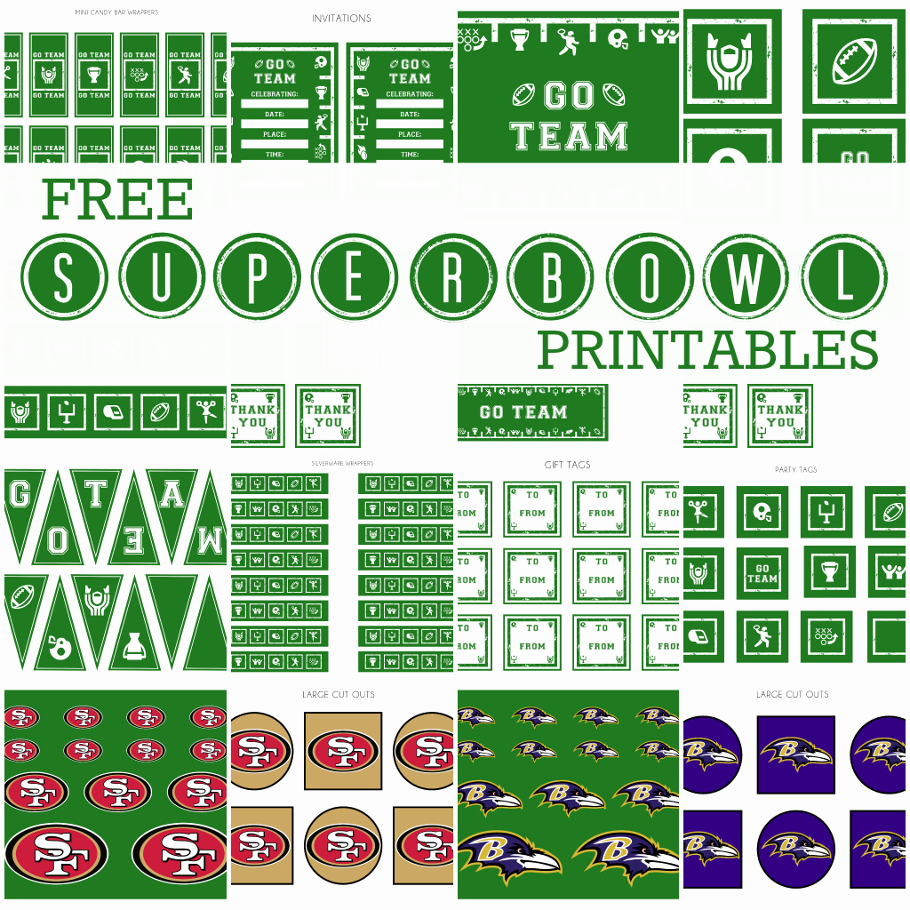 Super Bowl Invitation Template Lovely 8 Best Of Free Football Printables Free Printable