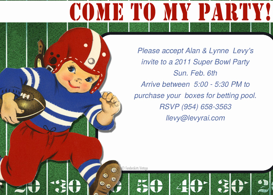 Super Bowl Invitation Template Luxury 2011 Super Bowl Line Invitations & Cards by Pingg