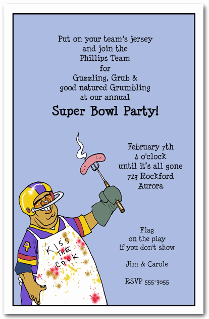 Super Bowl Invitation Template Luxury Football Chef Super Bowl Party Invitation