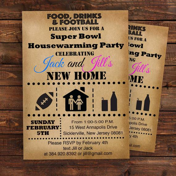 Super Bowl Invitation Template Luxury Super Bowl Housewarming Party Invitation Super Bowl