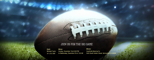 Super Bowl Invitation Template New Sports Leagues Free Online Invitations