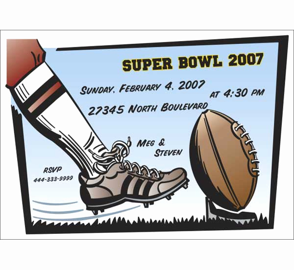 Super Bowl Invitation Template New Super Bowl Invitation