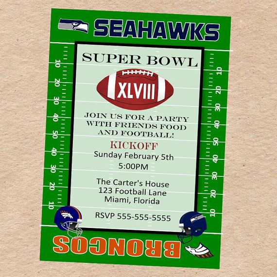 Super Bowl Invitation Template Unique 17 Best Images About Broncos Party On Pinterest