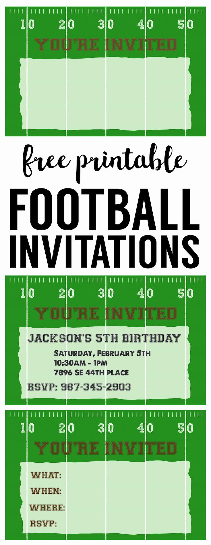Super Bowl Party Invitation Template Awesome Football Party Invitation Template Free Printable