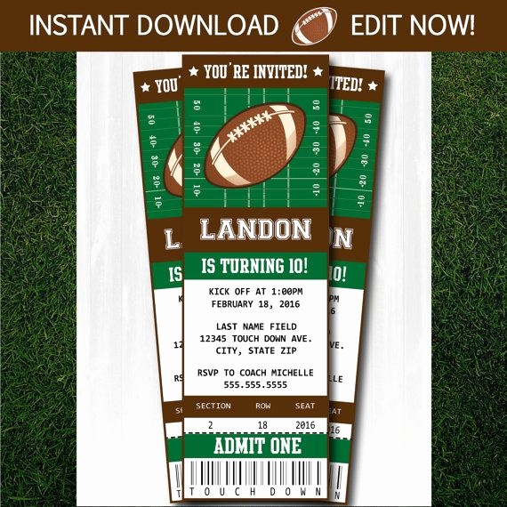 Super Bowl Party Invitation Template Beautiful Best 25 Football Invitations Ideas On Pinterest