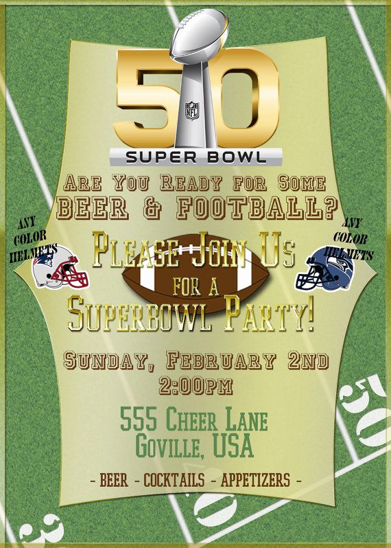 Super Bowl Party Invitation Template Fresh 135 Best Images About Football Printables On Pinterest