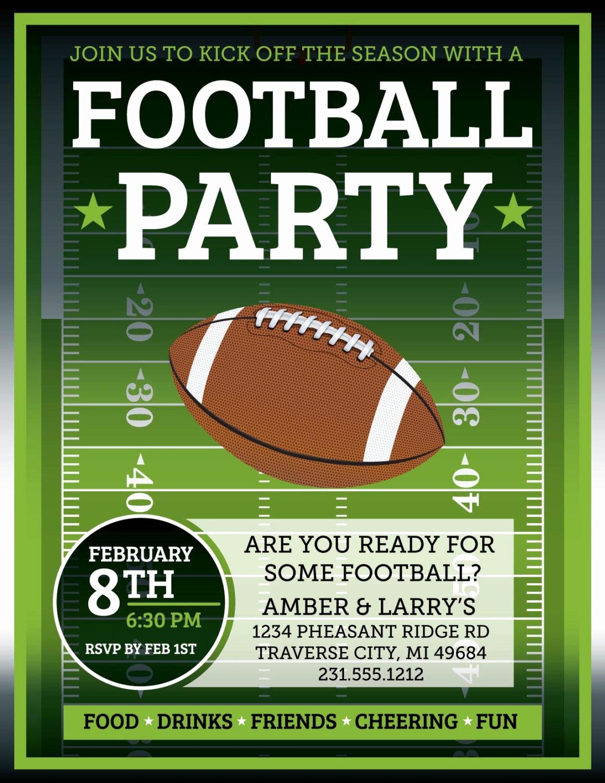 Super Bowl Party Invitation Template Fresh Football Invitation Superbowl Tailgate Party by