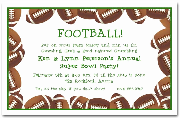 Super Bowl Party Invitation Template Inspirational Football Page Borders