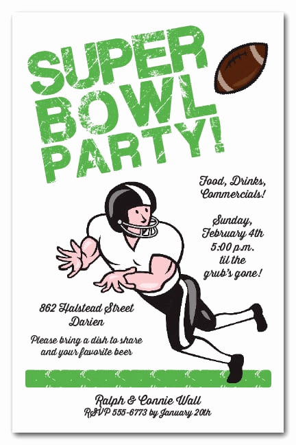 Super Bowl Party Invitation Template Luxury Wide Receiver Super Bowl Party Invitations
