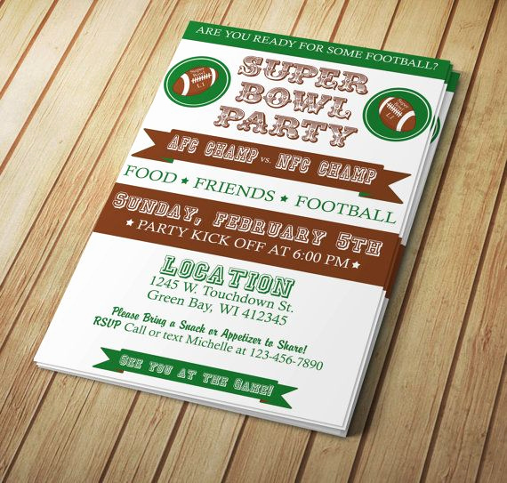 Super Bowl Party Invitation Template New 29 Best Images About Super Bowl Invitations Templates and
