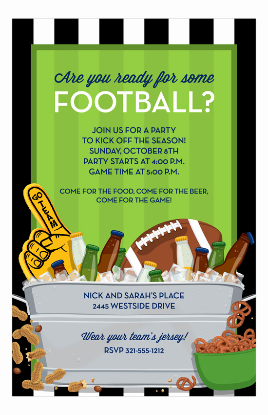 Super Bowl Party Invitation Template New Felt so Cute