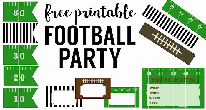 Super Bowl Party Invitation Template Unique Free Printable Football Decorations Football Party