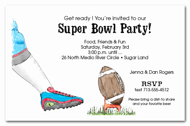 kickoff super bowl invitations
