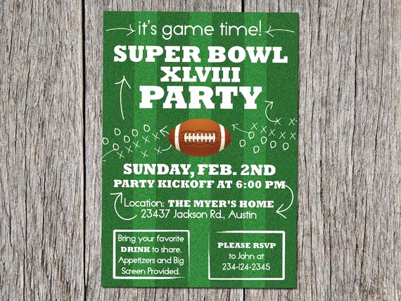 Super Bowl Party Invitation Wording Beautiful Sale Digital Super Bowl Party Invitation 2014 Diy by