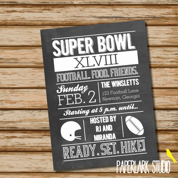 Super Bowl Party Invitation Wording Elegant Items Similar to Super Bowl Party Invitation Digital