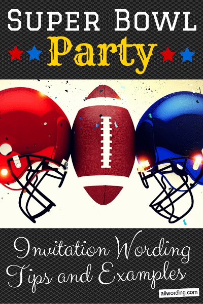 Super Bowl Party Invitation Wording Inspirational Super Bowl Party Invitation Wording Allwording