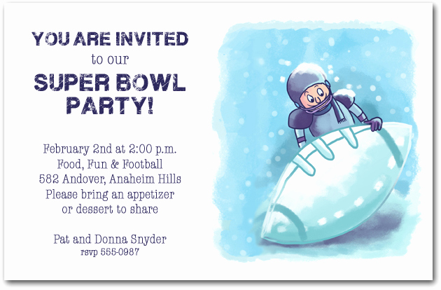 Super Bowl Party Invitation Wording Lovely Ice Football Super Bowl Party Invitations