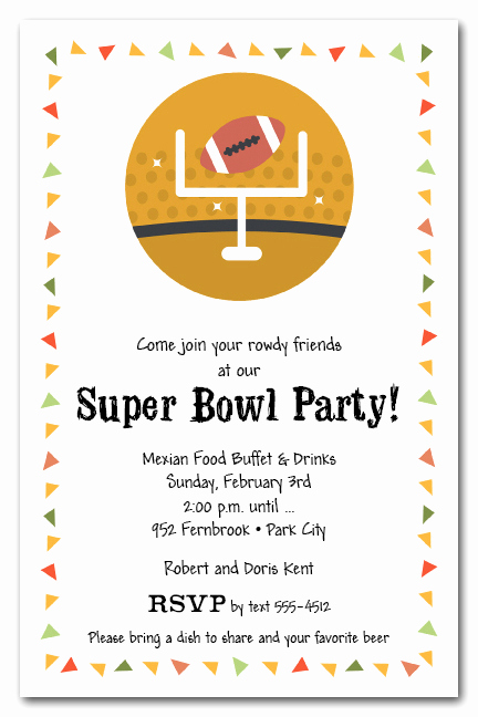 Super Bowl Party Invitation Wording Luxury Taco Chips & Football Super Bowl Party Invitations