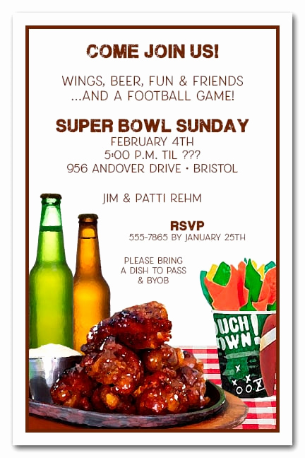 Super Bowl Party Invitation Wording Unique Buffalo Chicken Wings Super Bowl Party Invitations