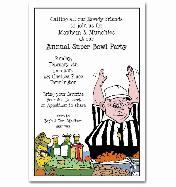 Superbowl Party Invitation Template Awesome 21 Super Bowl Invitation Designs Psd Vector Eps Jpg