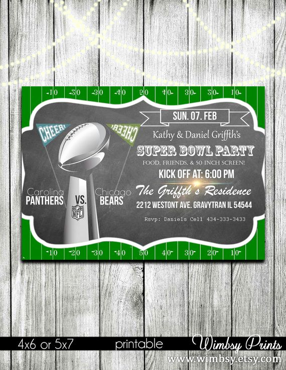 Superbowl Party Invitation Template Awesome Super Bowl Party Football Invitation