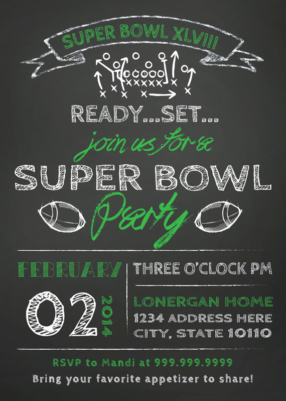 Superbowl Party Invitation Template Awesome Super Bowl Super Stars Food fort & Style – Hooker
