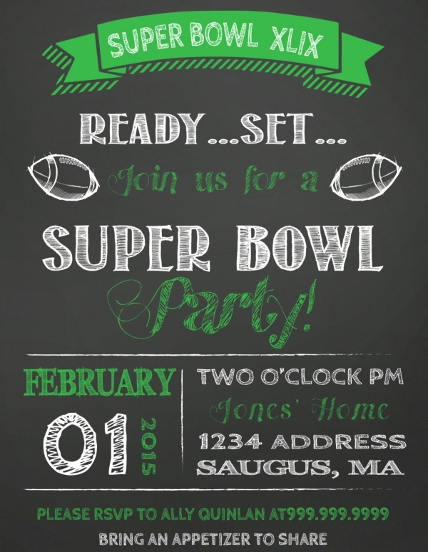 Superbowl Party Invitation Template Best Of 21 Super Bowl Invitation Designs Psd Vector Eps Jpg