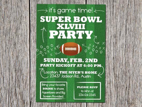 Superbowl Party Invitation Template Elegant Sale Digital Super Bowl Party Invitation 2014 Diy by