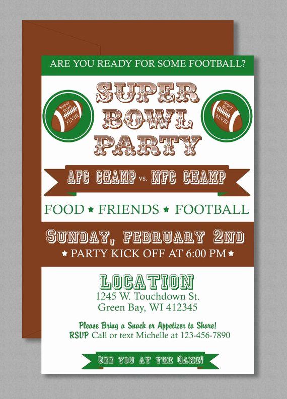 Superbowl Party Invitation Template Elegant Vintage Super Bowl Lii Invitation