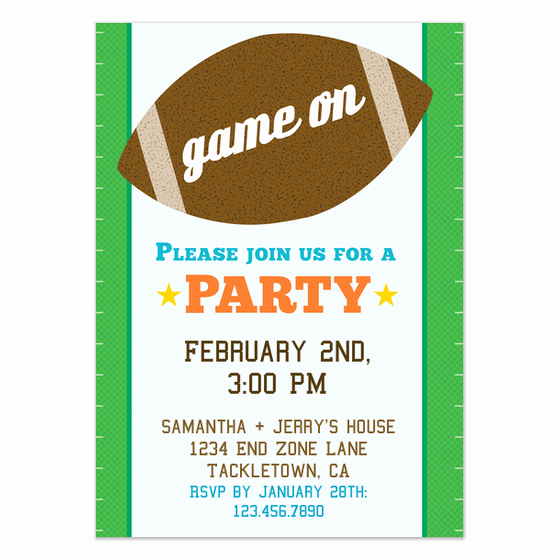 Superbowl Party Invitation Template Fresh 10 Free Super Bowl Party Invitations & Printable Flyer