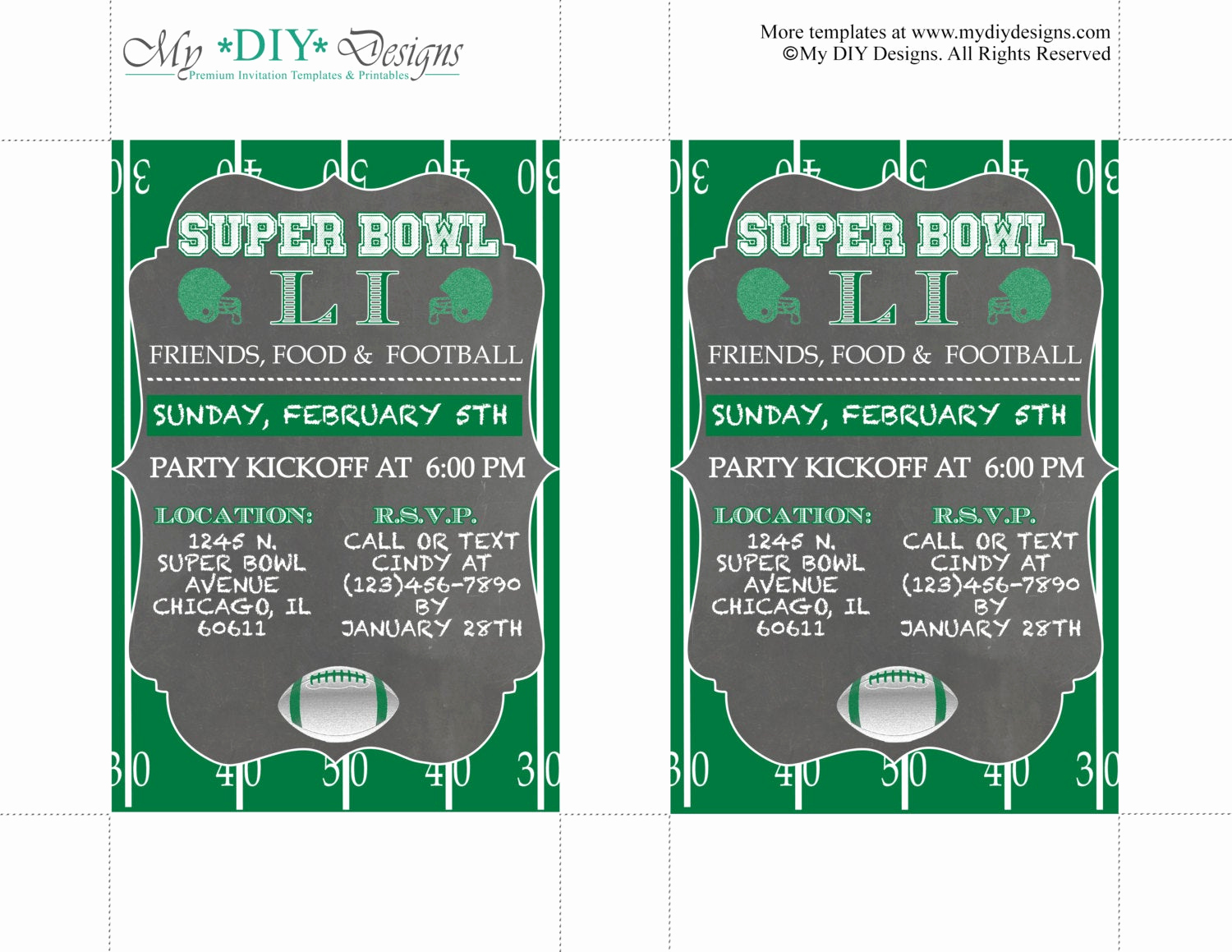 Superbowl Party Invitation Template Fresh Chalkboard Super Bowl Invitation Editable Template