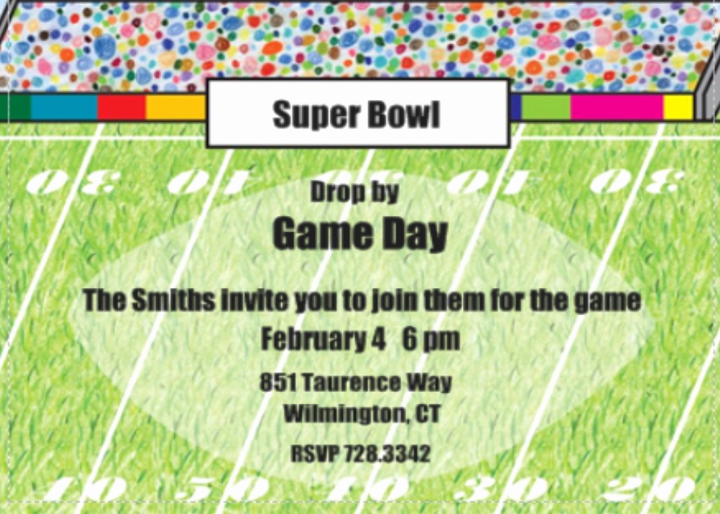 Superbowl Party Invitation Template Inspirational Super Bowl Party Invitations 2018 Football