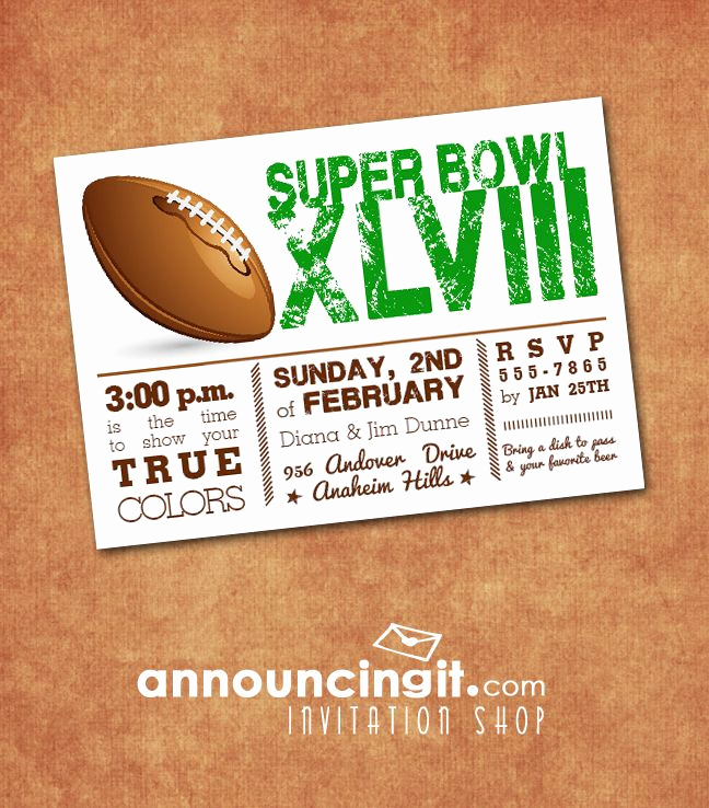 Superbowl Party Invitation Template Inspirational Super Bowl Party Invitations Announcingit