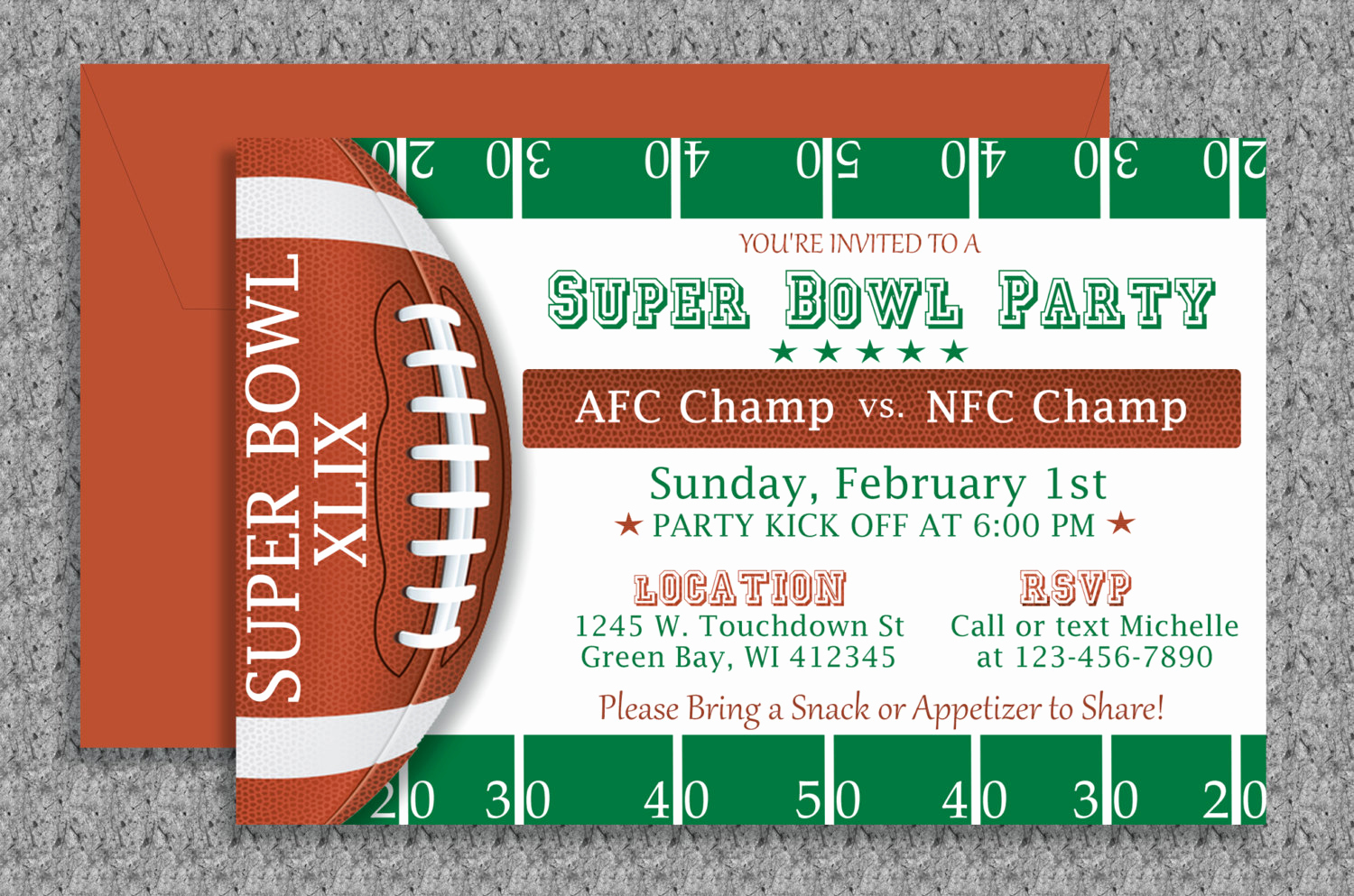 Superbowl Party Invitation Template Unique Super Bowl Invitation Editable Template by Mydiydesigns On