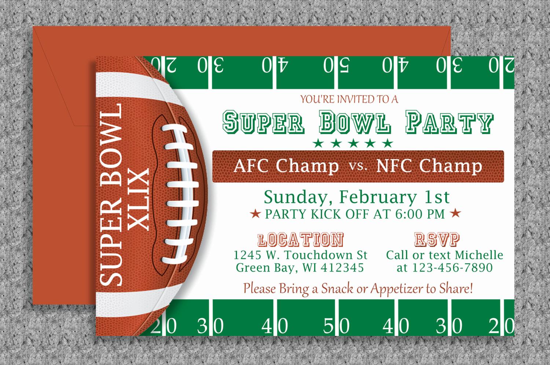 Superbowl Party Invitation Template Unique Super Bowl Invitation Editable Template by Mydiydesigns On