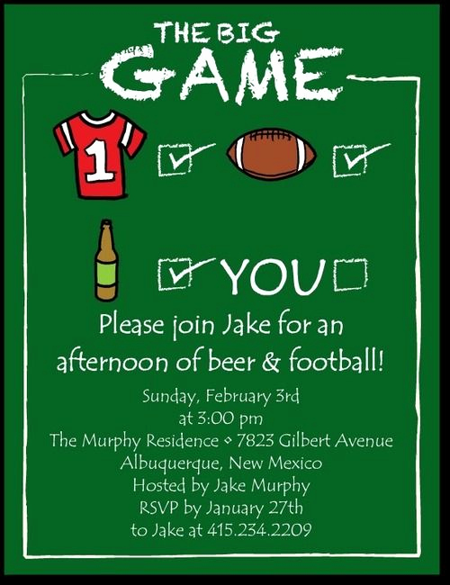 Superbowl Party Invitation Wording Fresh 66 Best Images About the Big Game On Pinterest