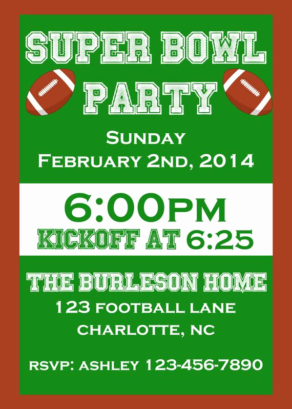 Superbowl Party Invitation Wording Luxury Items Similar to Super Bowl Party Invitation On Etsy